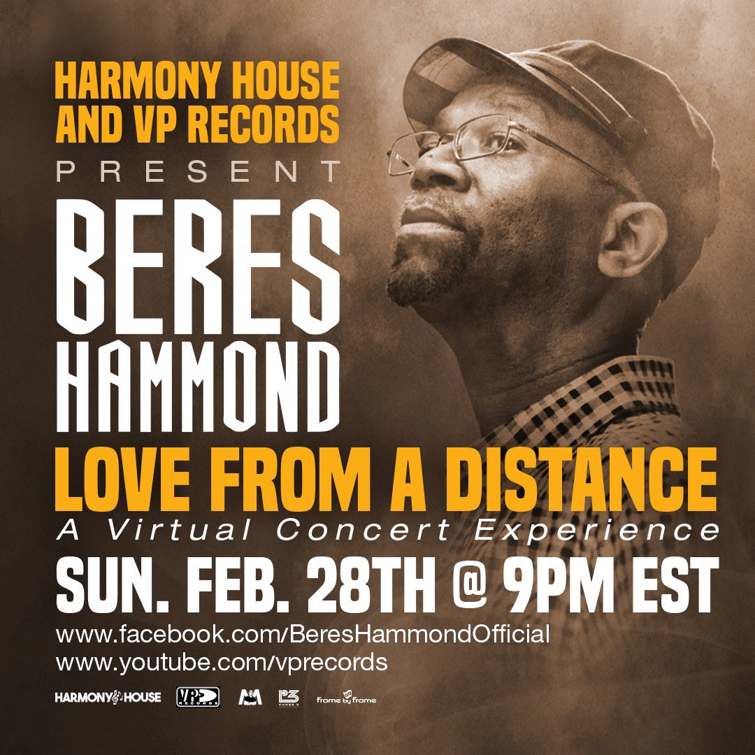 Beres Hammond LIVE: Harmony House x VP Records presents Beres Hammond LOVE FROM A DISTANCE